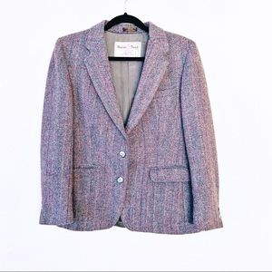 Vintage Oscar Benoit Scottish Wool Tweed Blazer